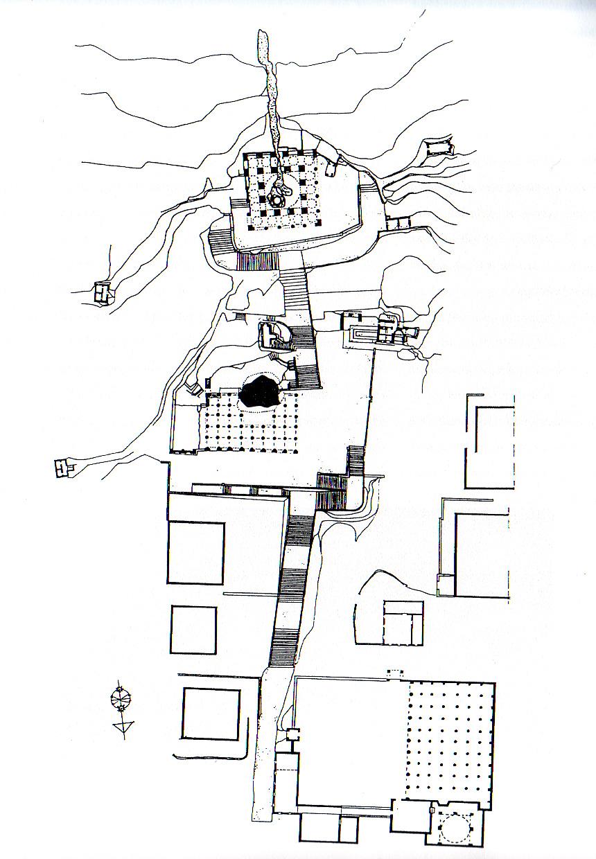 Plan du tombeau de Nabi Hûd