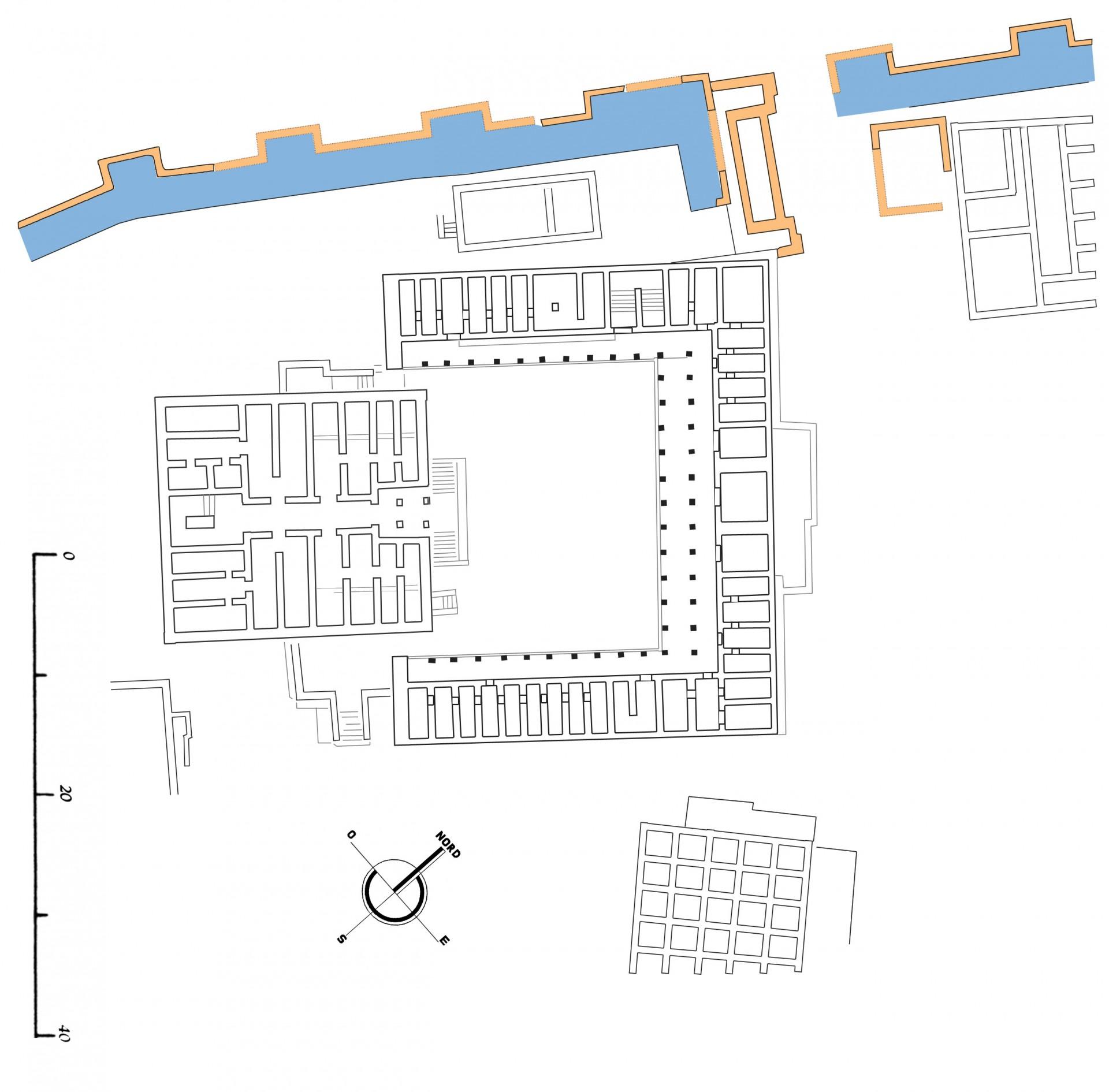 Plan des portes fortifiées de Shabwa