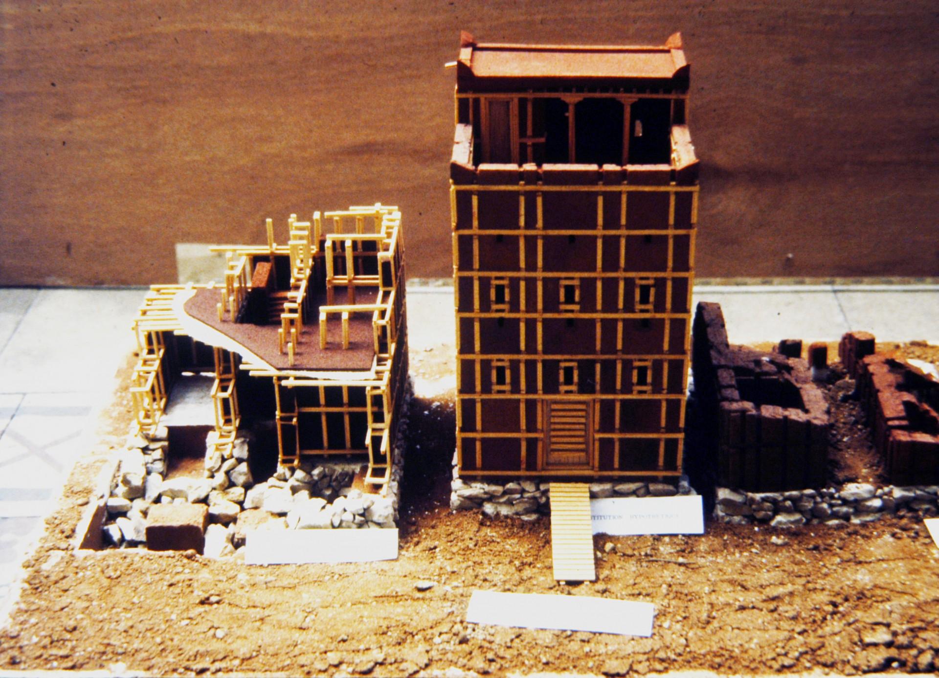 Maquette : architecture à Shabwa