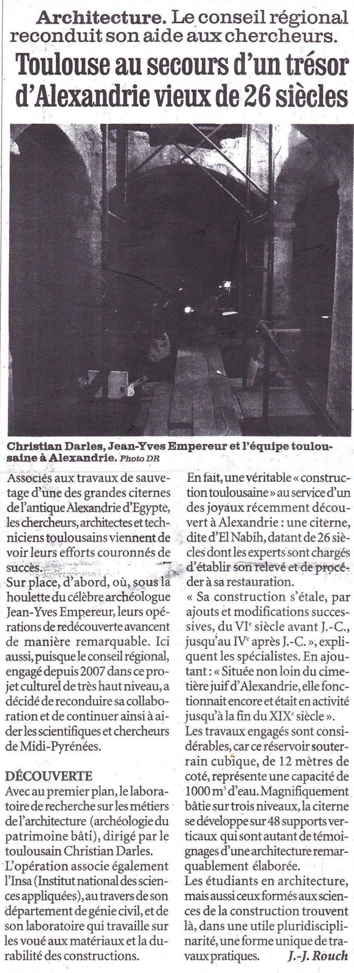Toulouse au secours d'un trésor d'Alexandrie vieux de 26 siècles