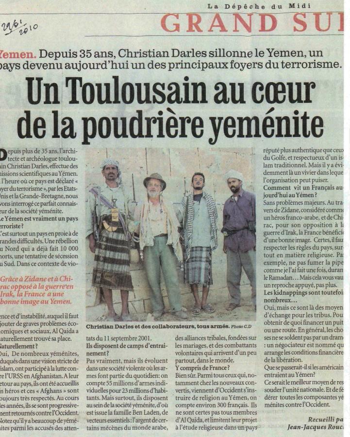 Un Toulousain au coeur de la poudrière Yéménite