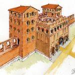 La porte nord de l'enceinte antique de Toulouse