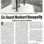 En lisant Norbert Rosapelly