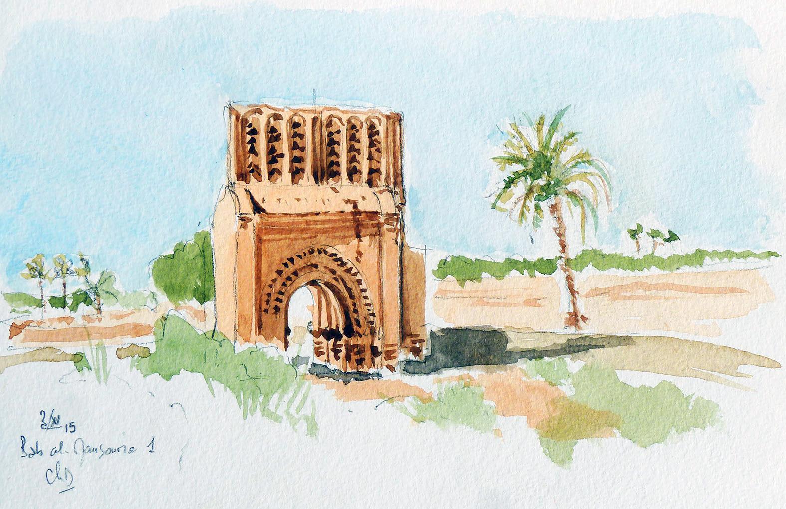 La porte Bab al-Mansuriya à Rissani - Maroc