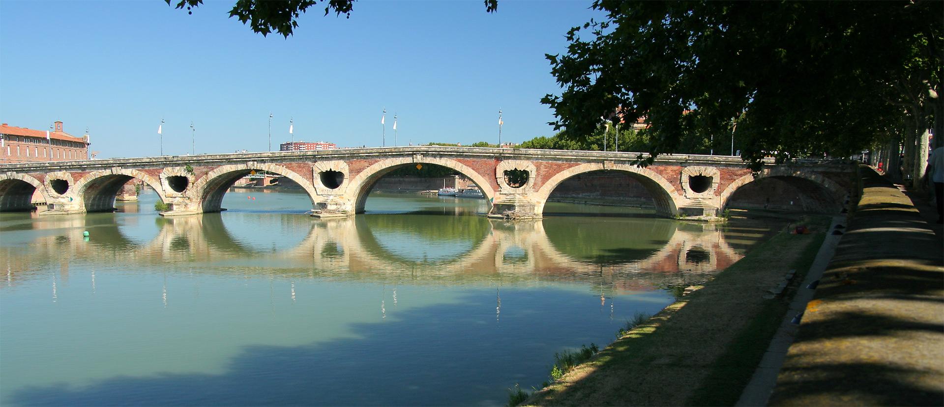 Toulouse : le Pont Neuf et la Garonne (2007)
