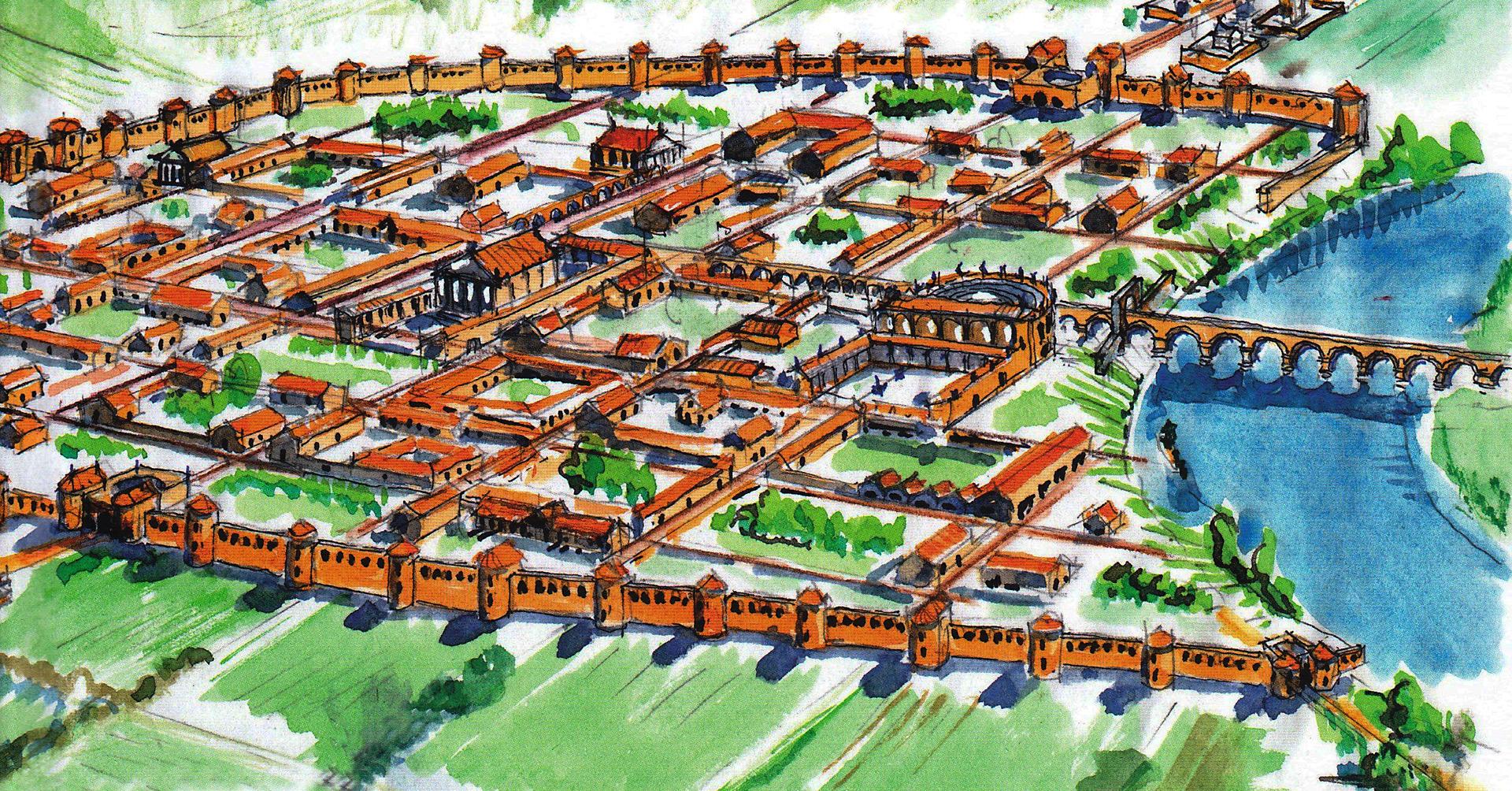 Toulouse, les remparts construits sous Tibère