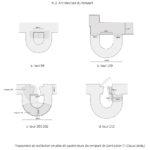Proposition de restitution en plan de 4 tours du rempart de Saint-Lézer