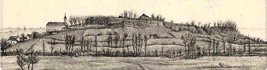 La coline de Saint-Lézer il y a 2 siècles