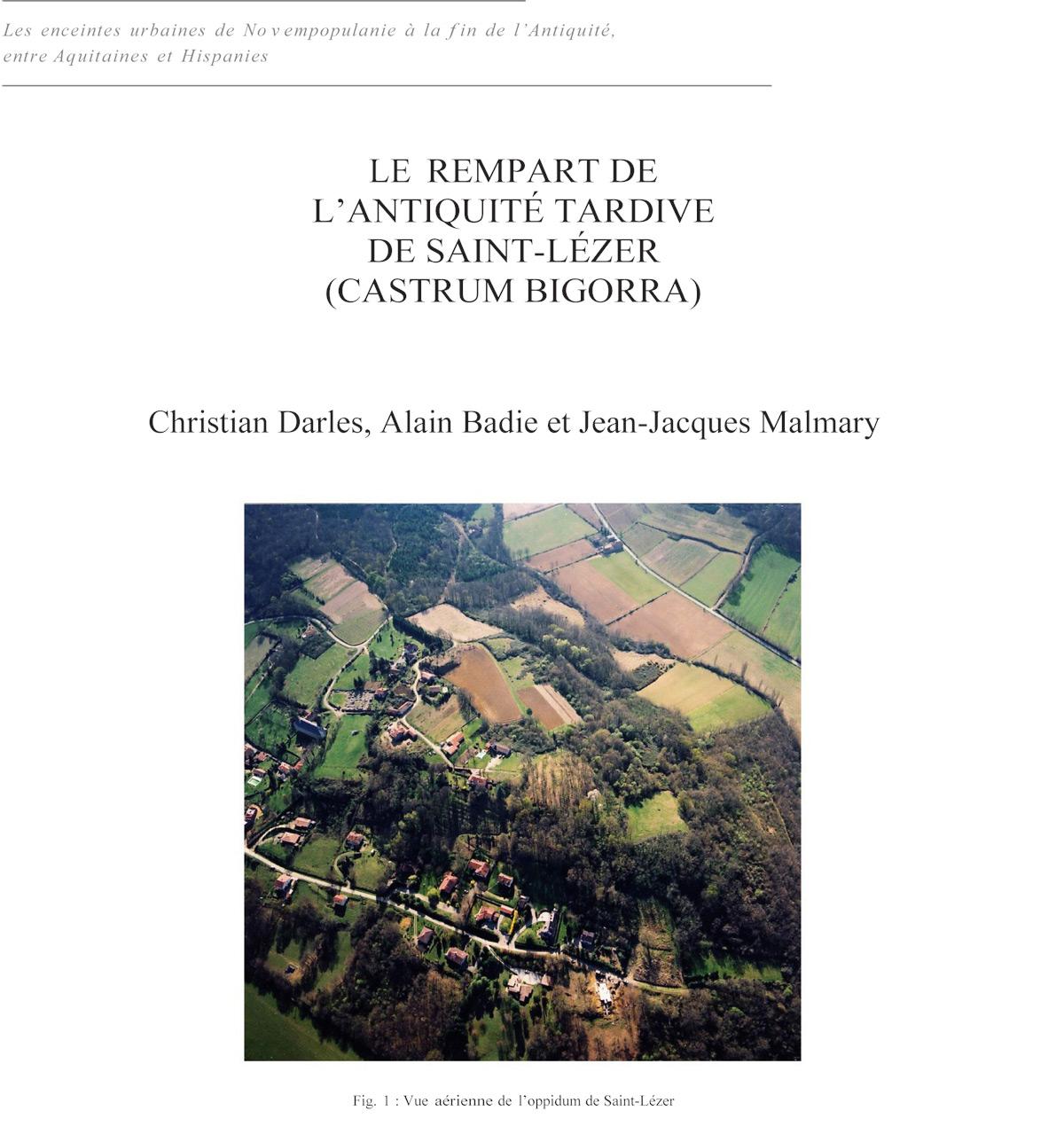 Le rempart de l'Antiquité Tardive de Saint-Lézer (Castrum Bigorra)
