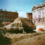 Toulouse : vestiges de la Porte Nord lors des travaux d'aménagement de la Place du Capitole