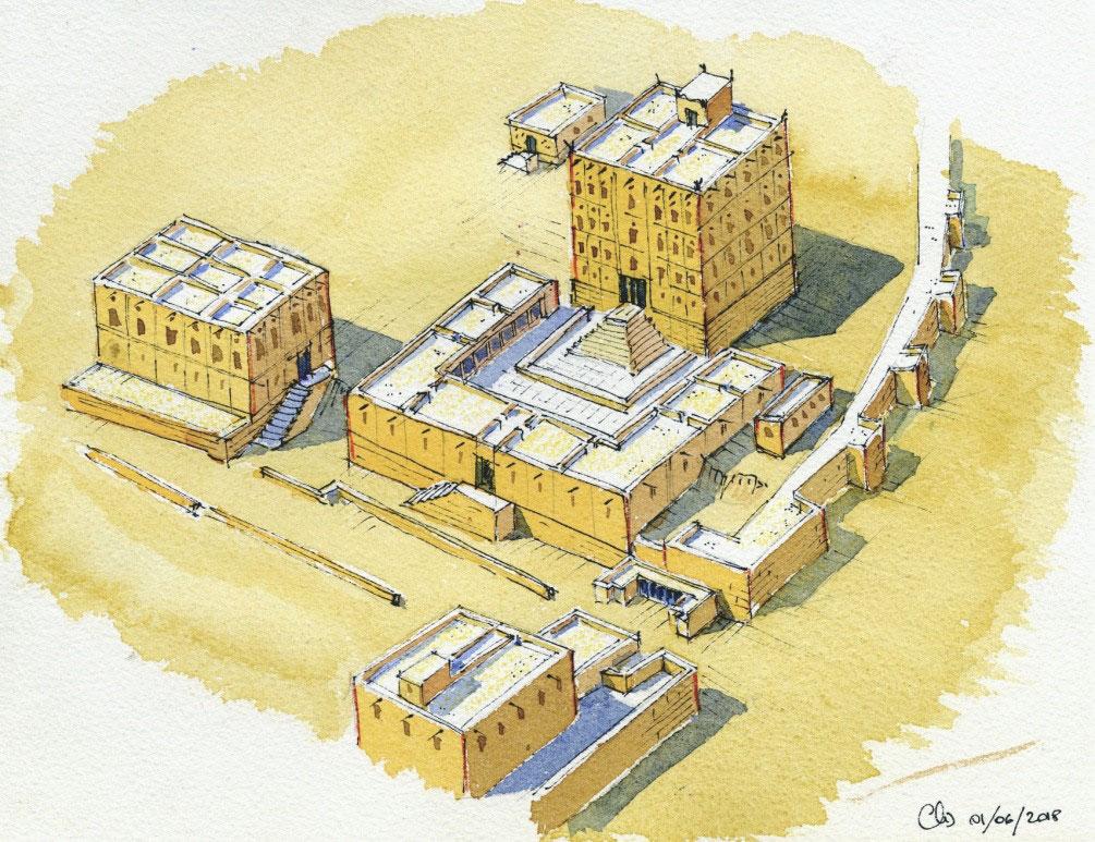 Restitution du palais de Shabwa au début du IIIe siècle