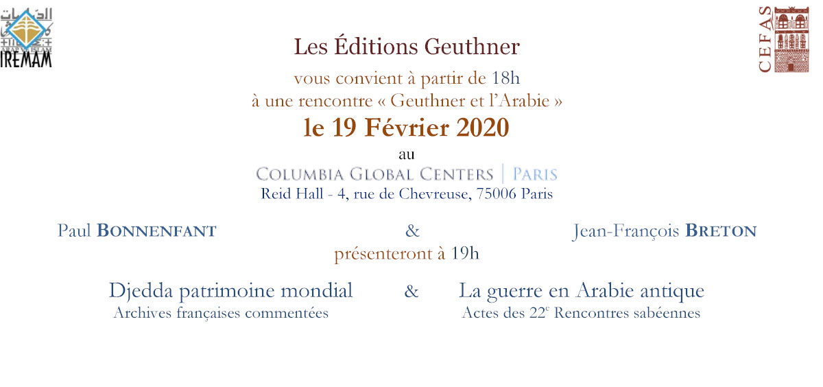 "Invitation ""Geuthner et l'Arabie"""