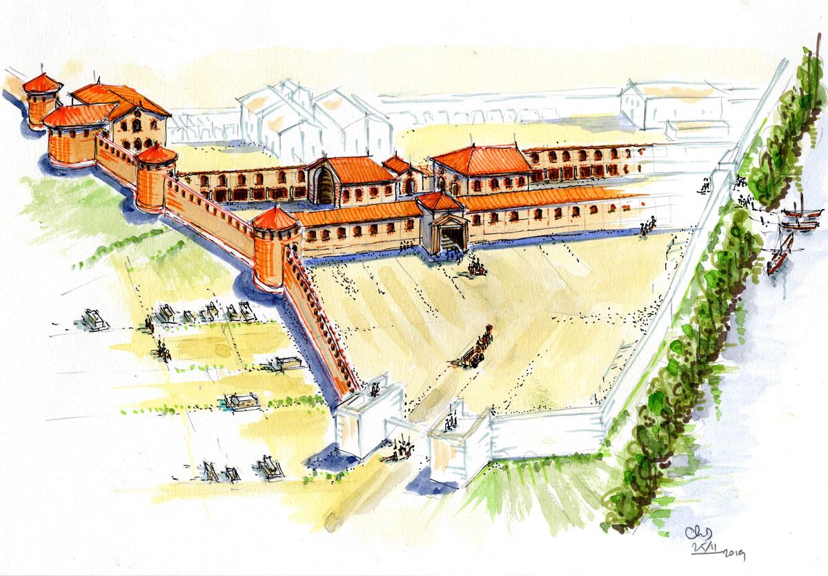 Une évocation du « palais » des rois wisigoths de Toulouse